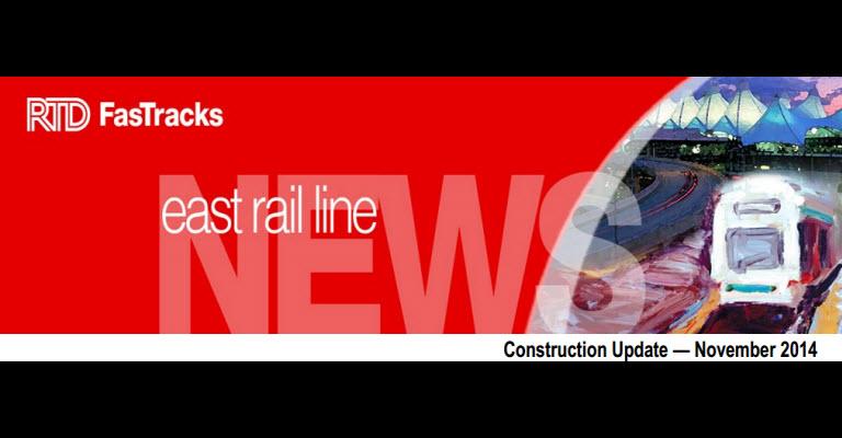 RTD East Rail update