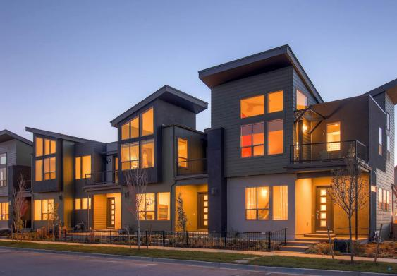 The Edge II collection of new row homes in Denver