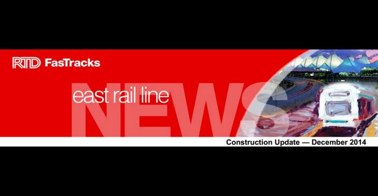 RTD East Rail Line December News