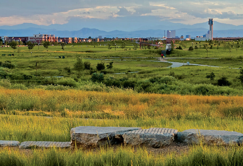 Parks and open space in Stapleton a Denver community