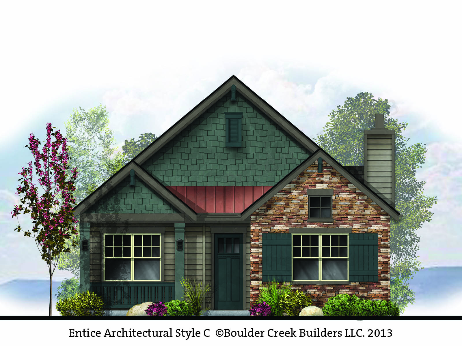 Boulder Creek Neighborhoods Entice floor plan quick move in home available in Stapleton