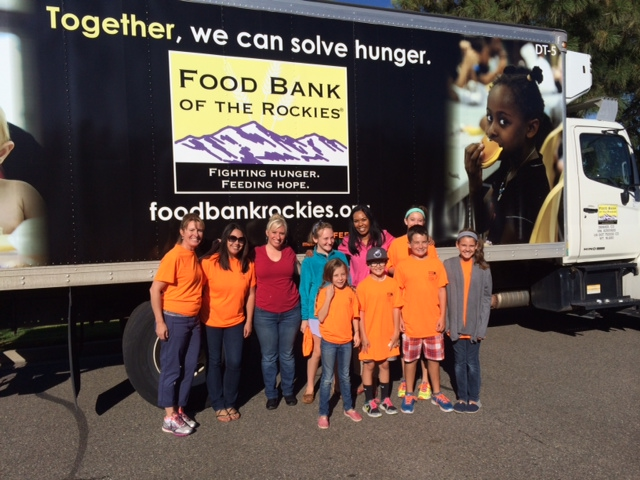 Volunteers for the Stapleton Community Food Drive in Denver, Colorado