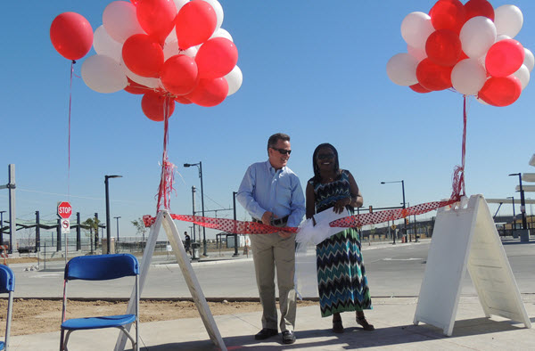 Ribbon cutting for Central Park Station Park and Ride