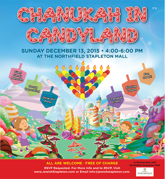 Chanukah in Candyland at the Shops at Northfield