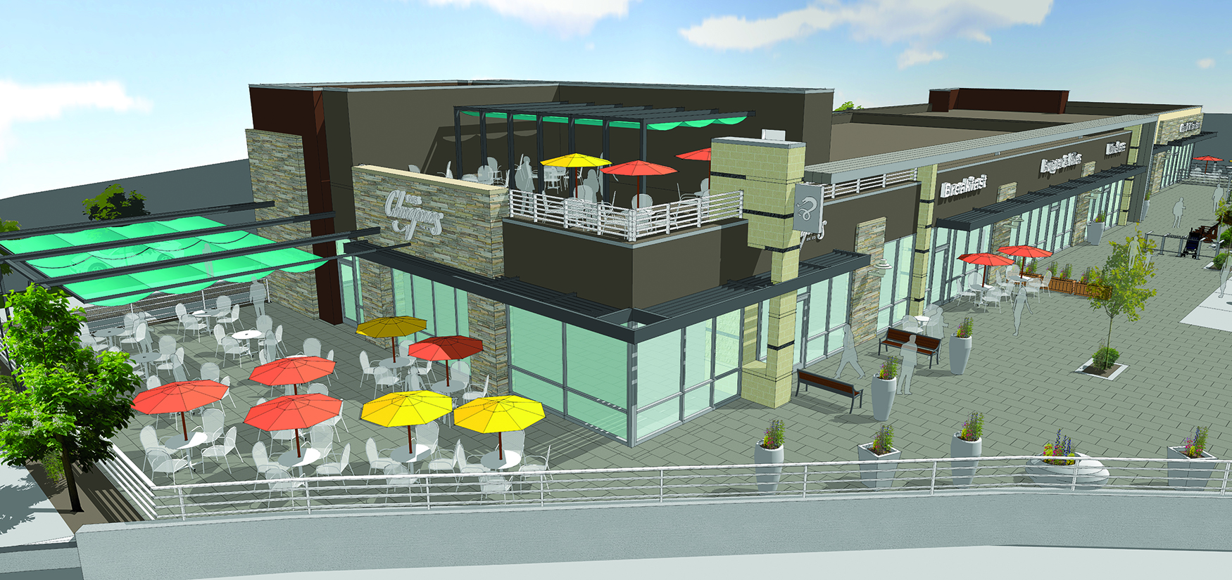 EastBridge Town Center Rendering