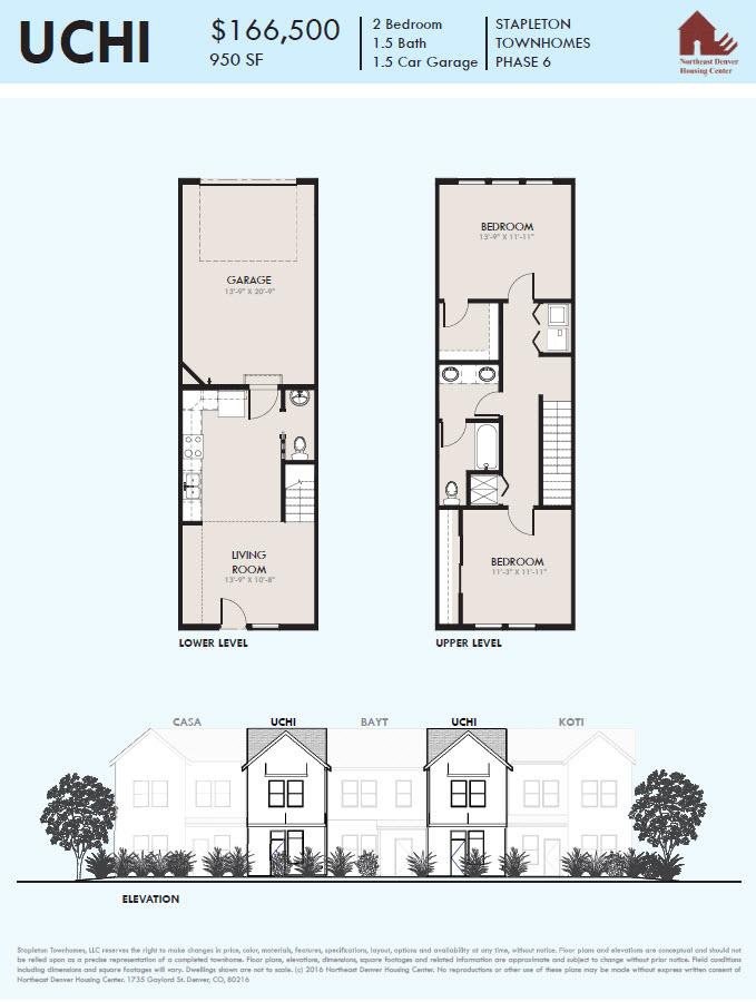 Uchi Floor Plan - Stapleton Denver