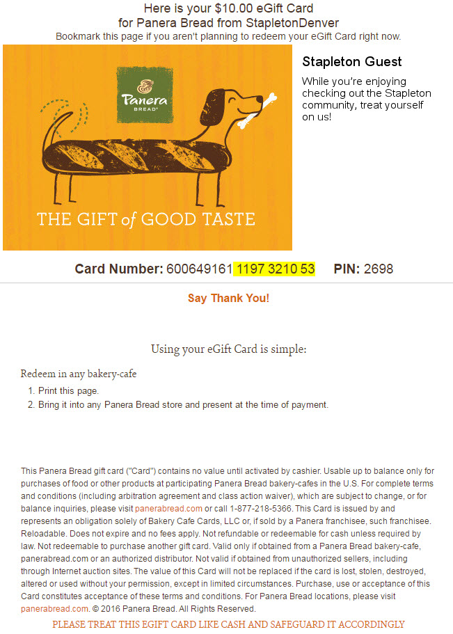 Panera Gift Card Check Balance - Gift Card Ideas