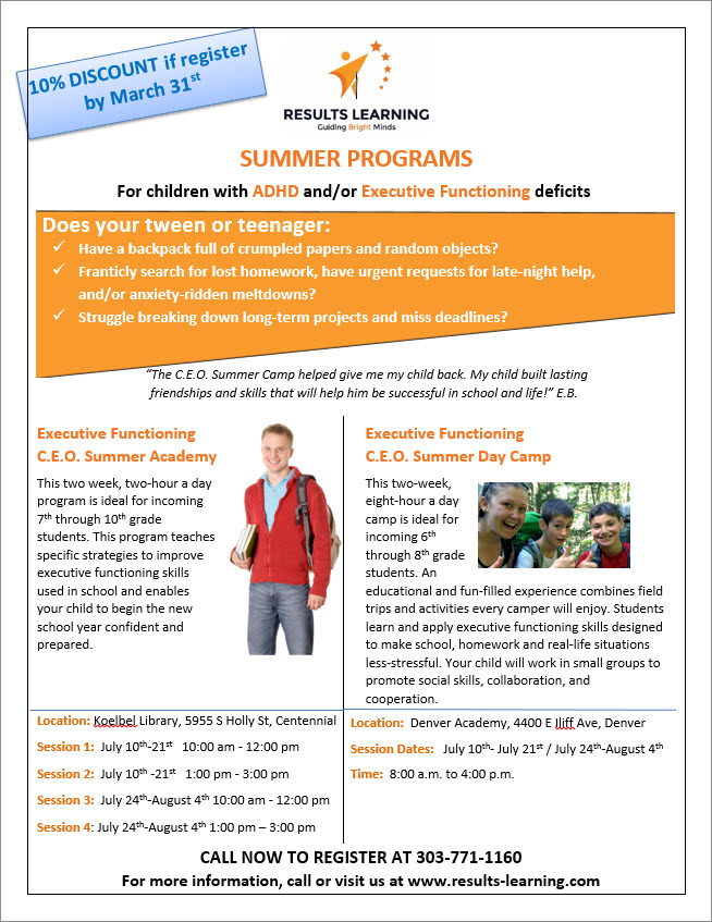 Results Learning Summer Programs