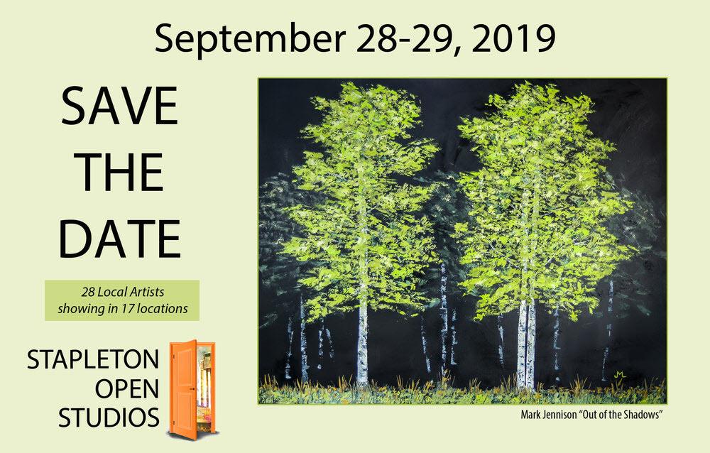 Flyer for Stapleton Open Studio Tour