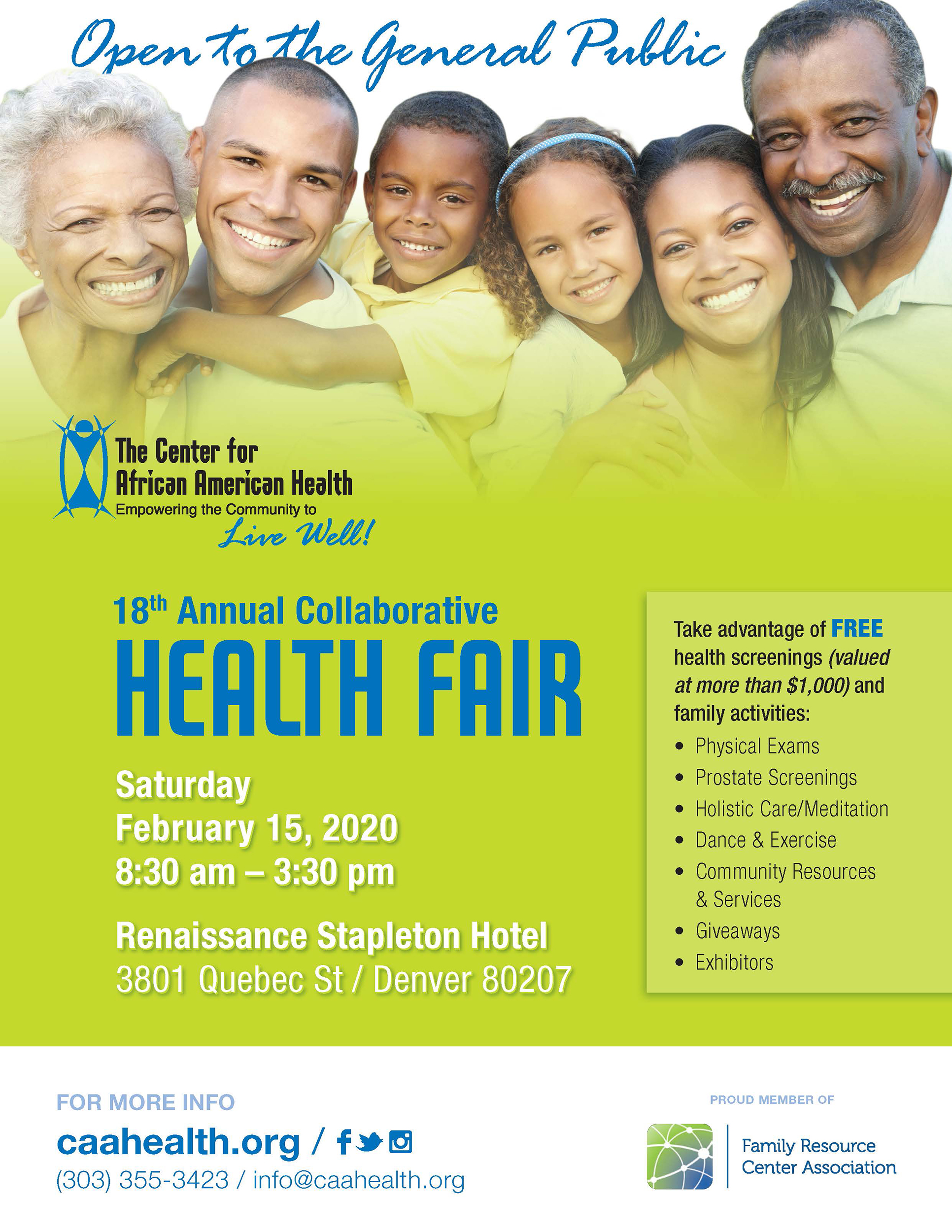Annual Collabortive Health Fair Sized