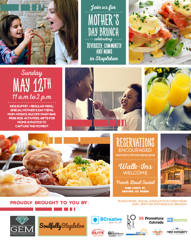 Mothers Day Brunch at Punch Bowl Social