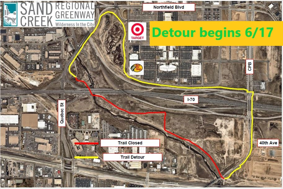 Sand Creek Detour map
