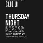 Thursday Night BAZAAR