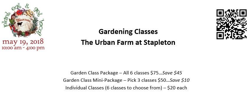 Gardening Classes by the Urban Farm at Stapleton