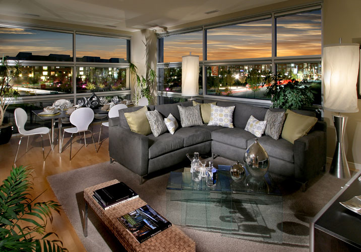 Moda Lofts living room - Stapleton Denver