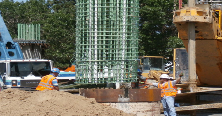 Rebar pier column installation