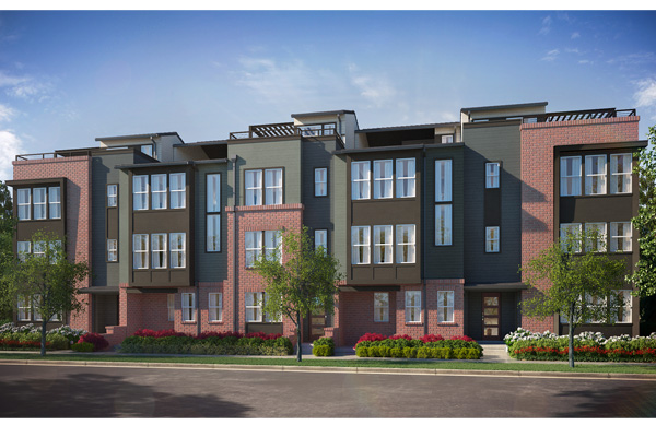 47th avenue row homes new townhomes for sale in denver for Thrive homes denver